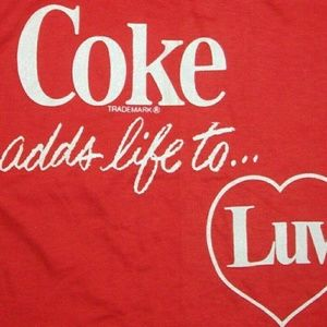 Coca Cola Coke Adds Life to Love vintage t shirt